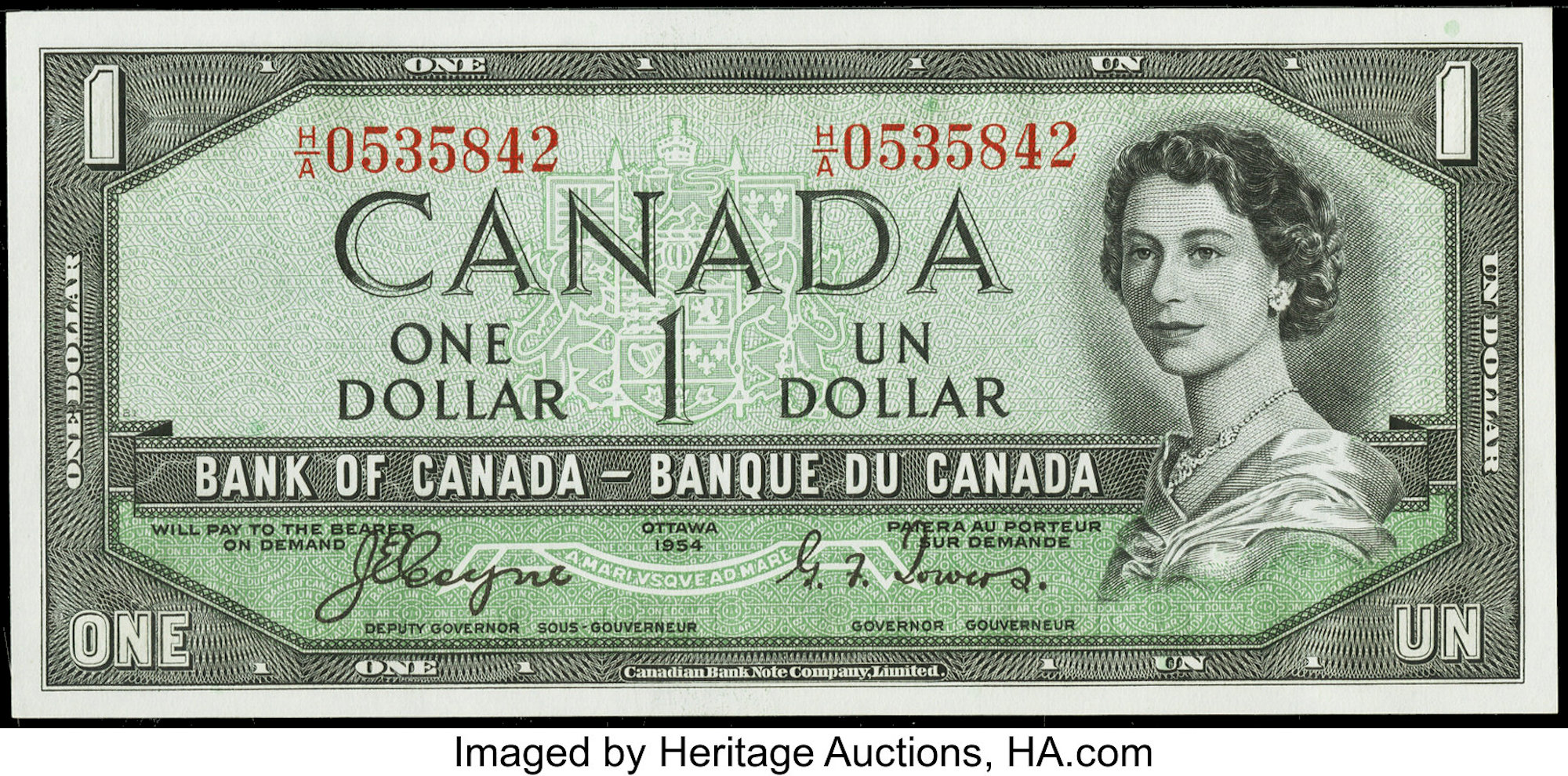 1954-1967 Bank of Canada Banknotes