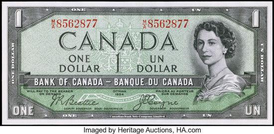 Canada 1$ and 2$ dollar bill combo