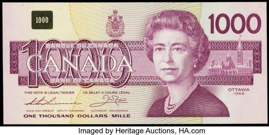 1986-1991 Bank of Canada Banknotes