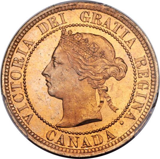 Canadian 1 Cent Obverse Design Evolution