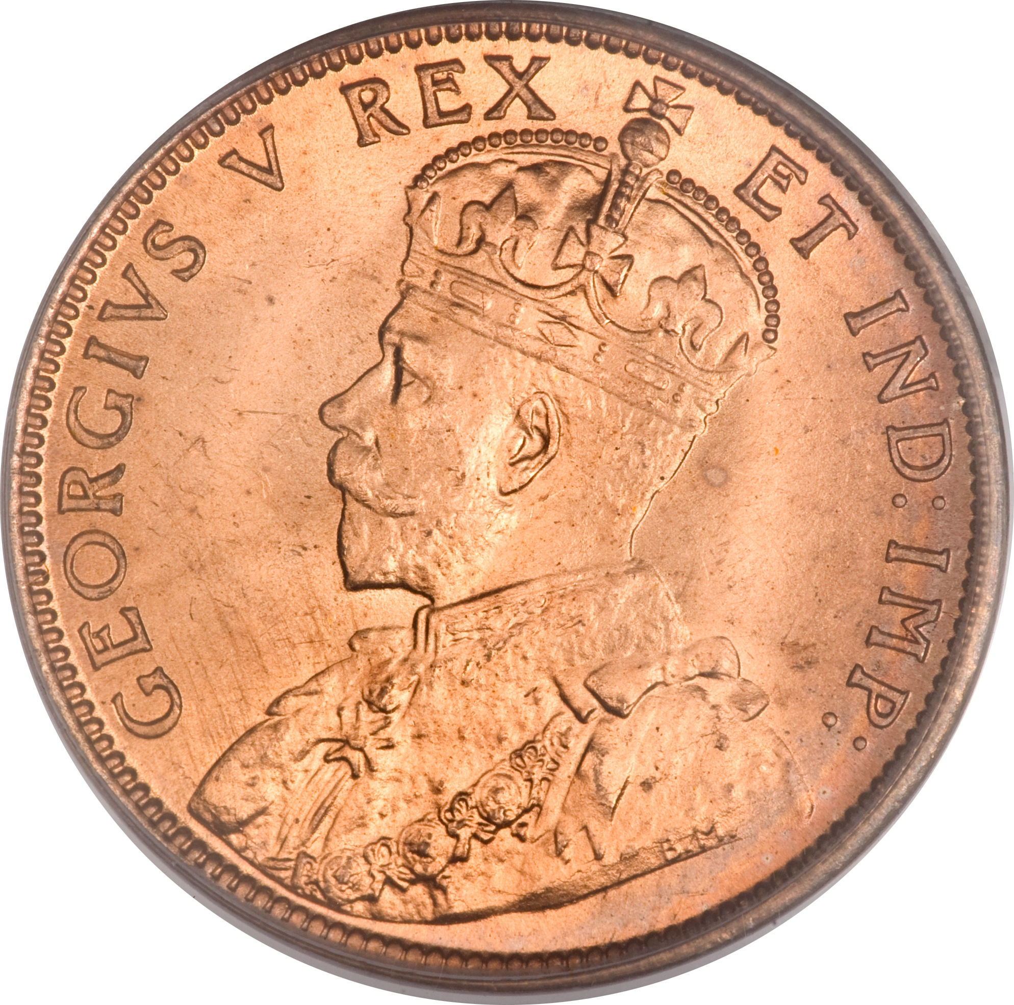 Canada 1936-1 Cent Bronze Coin King George V