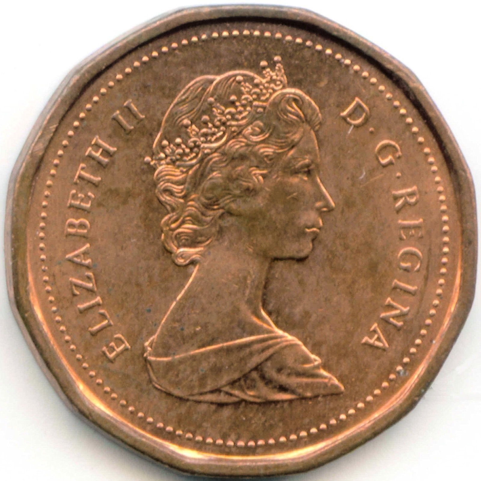 Canadian 1 Cent Obverse Design Evolution