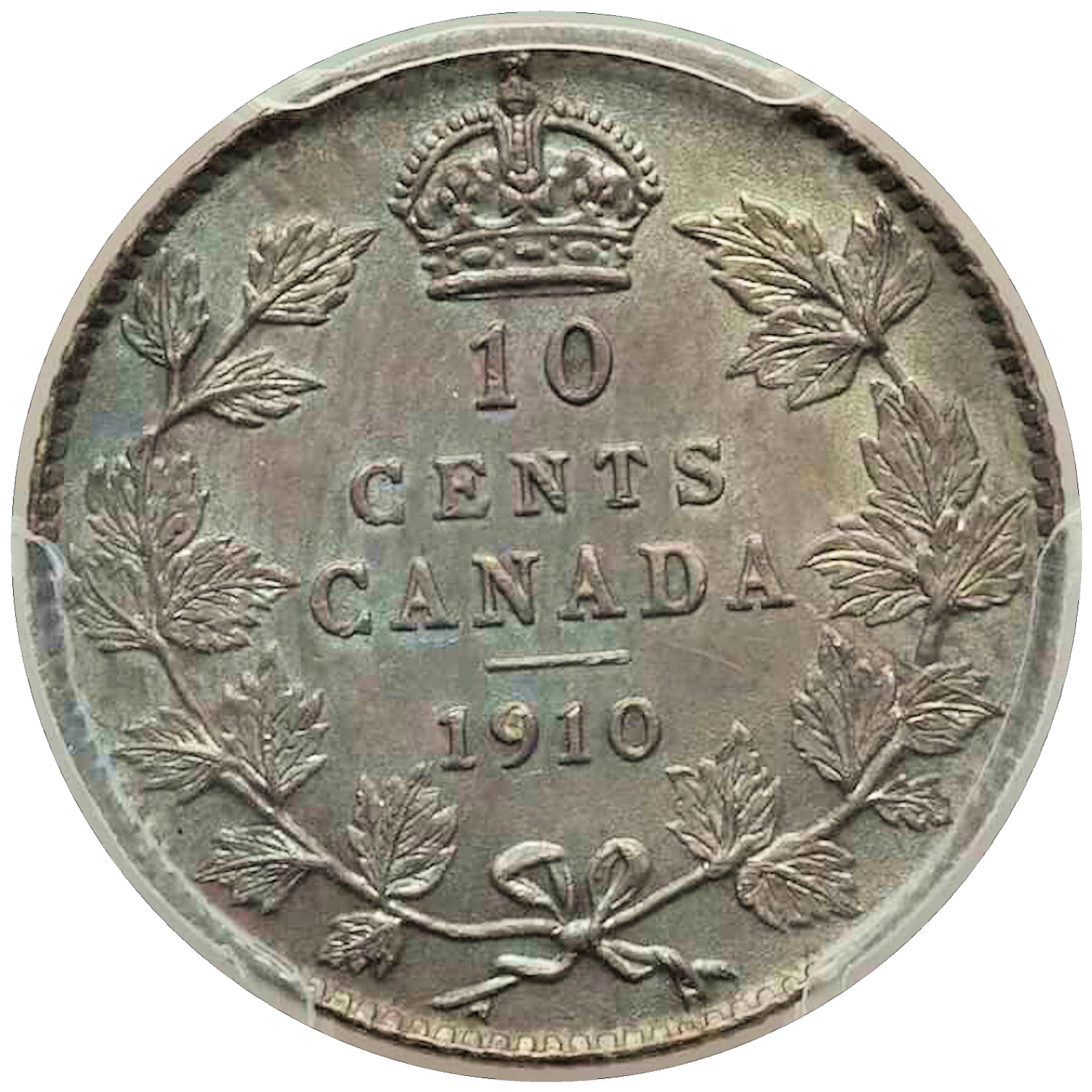 Coins: Canada Other Canadian Coins Canada 10 Cents 1913 Good Grade To Be Distributed All Over The World