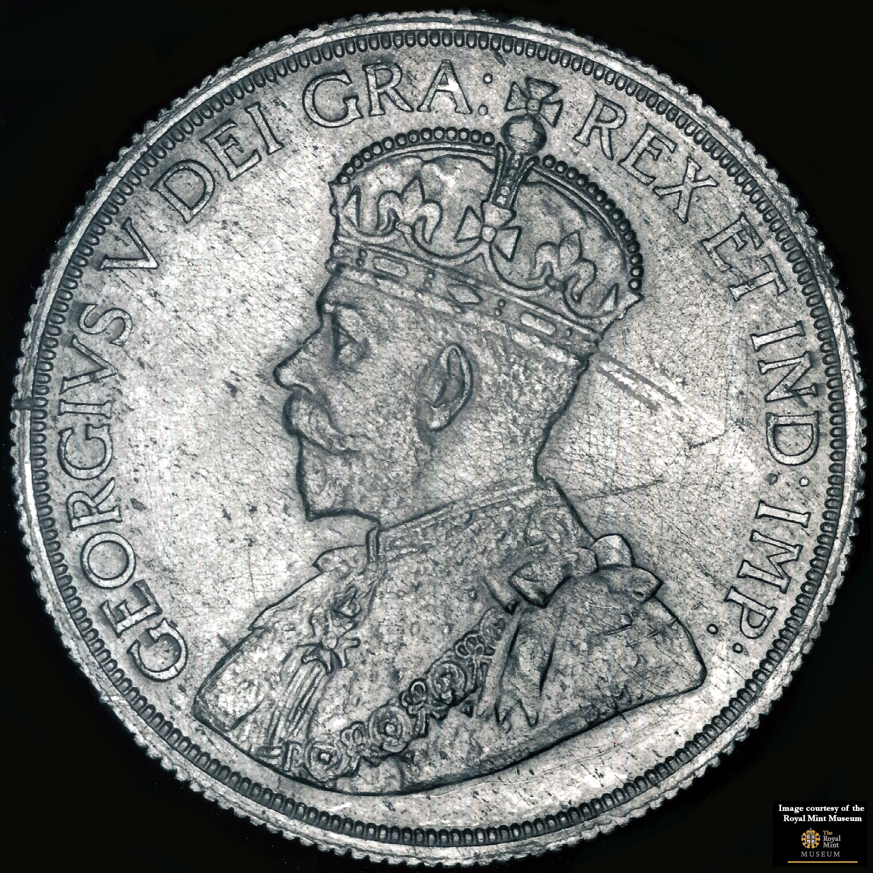 PHOTO MAGNET CANADA 1911 King George V 10 cents Reproduction