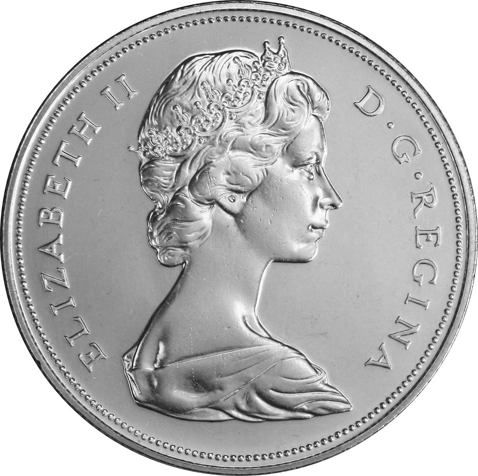 Canadian 1 Dollar Coin Obverse Design Evolution (1935-1987)